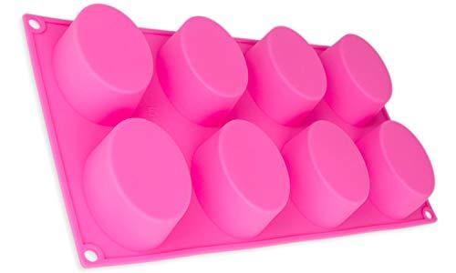 Savon forme avec 8 ovale pour individuelle Savon produkion, créatifs arômes aussi pour bougies. Parfait pour muffin, gâteaux, cercle, Gelée, Mouse, Candle, Soap, et la glace, taupes, Couleur : Rose