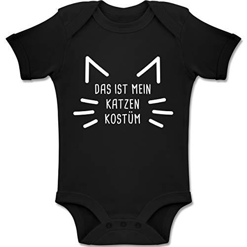 Kätzchen Mein Für Kostüm - Shirtracer Karneval und Fasching Baby - Das ist Mein Katzen Kostüm - 18-24 Monate - Schwarz - BZ10 - Baby Body Kurzarm Jungen Mädchen
