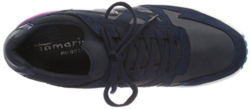 Tamaris 23600, Low Sneakers Azul Mujer (navy Comb 890)