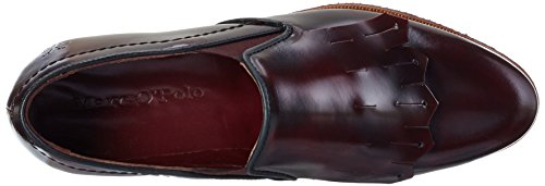 Marc O'Polo Damen 60713553201105 Loafer Slipper Rot (bordo 375)