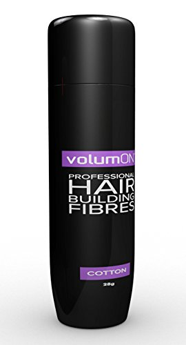 Volumon Professional Hair Building Fibres- Hair Loss Concealer- COTTON- 28g- Get Upto 30 Uses- CHOOSE FROM 8 HAIR SHADES COLOURS (Dark Brown)
