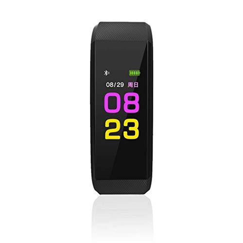 GGPUS Fitness-Tracker mit Pulsmesser, Aktivitäts-Tracker with115plus Wasserdichter Farbbildschirm, Schlaf-Monitor für Kinder, Frauen, Männer,Black - Suite Black Die Männer,