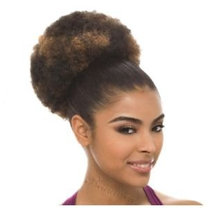 Janet Collection Noir Everytime Afro Puff Kordelzug (Kordelzug Textur)