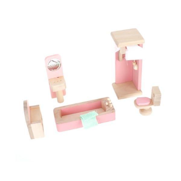 FlyRay 1/12 Dollhouse Mínimos Muebles De Cuarto De Baño