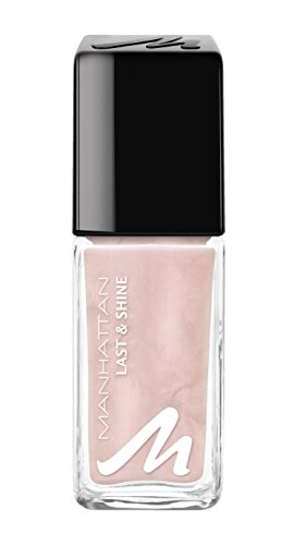 Manhattan Last & Shine Nail Polish, Fb. 216 Ethereal Rose, Nagellack mit langanhaltendem Farbglanz...