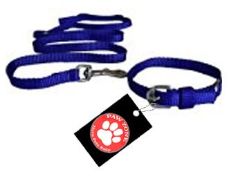 Pawzone Puppy Blue Leash with Collar Set  available at amazon for Rs.145