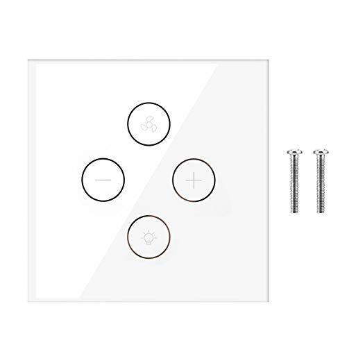Xinwoer 110-240V EU UK WiFi Interruptor Inteligente para Ventilador de Techo, luz,...