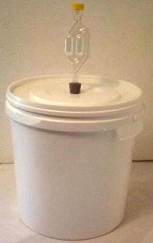 gaerbehaelter bier Nahrungsmittel-selbermachen 12 Liter Gärbehälter für Wein, Bier, Maische, mit Gäraufsatz, Achtung ohne Ablasshahn