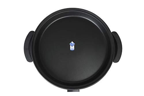Sogo SS-10060 Paellera, Sartén Eléctrica para Paella y Pizza, Cazuela Multiusos 42cm diámetro y 4,5cm Profundidad Con Tapa de Cristal 1500W