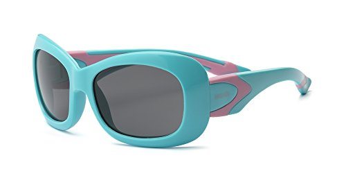 Real Kids 4SURNBL Surf Wayfarer Kindersonnenbrille, Flexible Passform, Größe 4+, neonblau