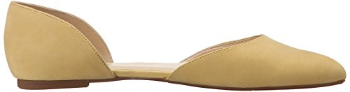 Nine West Starship Nubuck Ballet Flat yellow