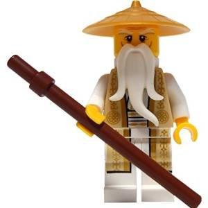 LEGO Ninjago: Minifigur Sensei Wu (Tan and Gold Outfit, aus Set 70751) (Lego-sets Ninja Ninjago Golden)