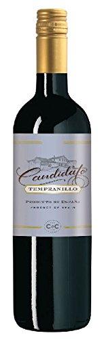 6 Flaschen Candidato Tempranillo Tinto Joven 2017 Cosecheros y Criadores, trockener spanischer Rotwein aus La Mancha