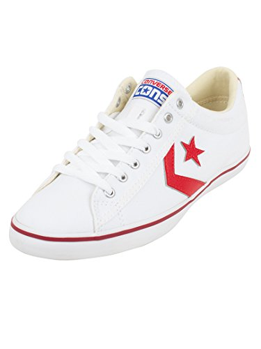 Converse Mens Star Player Low Profile Ox Textile Trainers Weiß