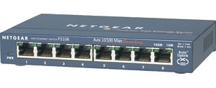 NETGEAR FS108GR 8 Port Fast Ethernet Switch