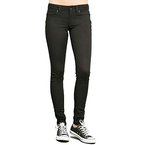 Star and Stripes Black Women s Skinny Jeans, Girls Slim Fit Stretchable  Jeans (Black, d774c927027a
