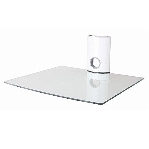 NEG Multimedia TV-Rack Suspender 501W (weiß) mit Glas-Ablage und Kabelmanagement-System -
