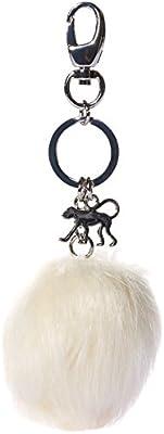 Kipling - Keyhanger Pompom, Llaveros Mujer, Weiß (Snowflake), One Size