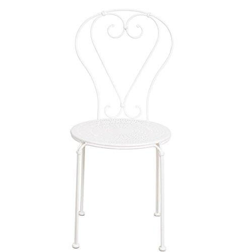 Butlers Century Stuhl - Balkon-Stuhl - Garten-Stuhl - französischer Retro-Stil - Rund - Eisen - 41...