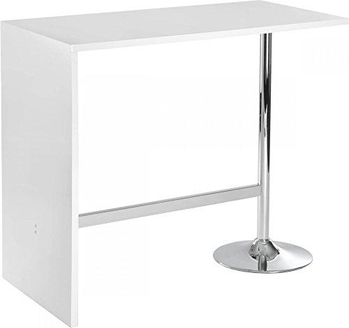 AVANTI TRENDSTORE - Tavolo da bar, bianco splendente, ca. 120x105x60 cm
