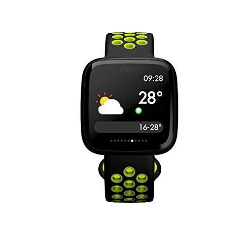 AA-SS Fit Herzfrequenzmesser, Ei Farbe Display Armband Fitness Tracker Uhr, Smart Armband Schrittzähler Uhr Schritte/Kalorien- / Entfernungsmesser, Anruferinnerung