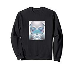 Vaporwave Aesthetic | Synthwave 80s VHS Glitch | Space Girl Sweatshirt