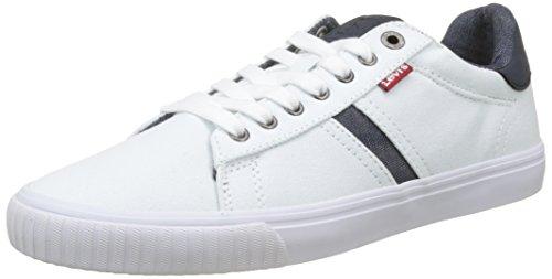Levi's Levis Footwear and Accessories Herren Skinner Sneaker Weiß (Noir Regular White) 44 EU