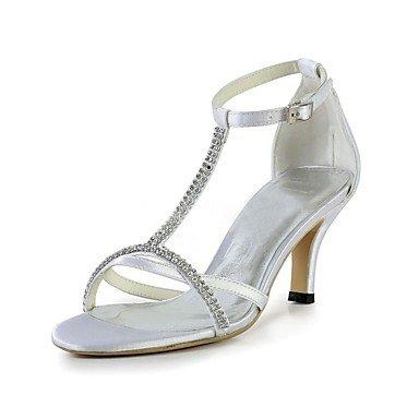 RTRY Donna Scarpe Matrimonio Della Pompa Base Raso Elasticizzato Summer Party Di Nozze &Amp; Sera Crystal Stiletto Heel Bianco 2A-2 3/4In Bianco Us5.5 / Eu36 / Uk3.5 / Cn35 US5 / EU35 / UK3 / CN34