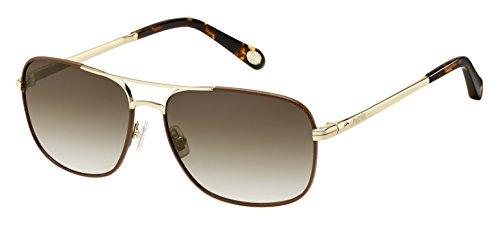 Fossil occhiali da sole fos 2001/l/s gold brown/brown shaded unisex