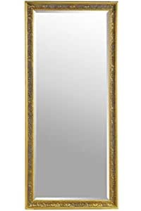 4feab4b176c1 Large Shabby Chic Ornate Full Length Gold Wall Mirror 5ft4 x 2ft5 ...