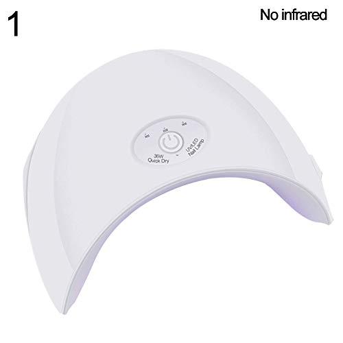XQxiqi689sy Nageltrockner für Maniküre, langlebig, tragbar, schnell trocknend, 36 W, UV-/LED-Lampe, 30/60/90S, weiß -