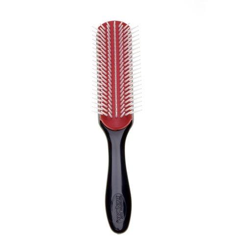 Denman D3 - Cepillo (7 filas), color negro y rojo