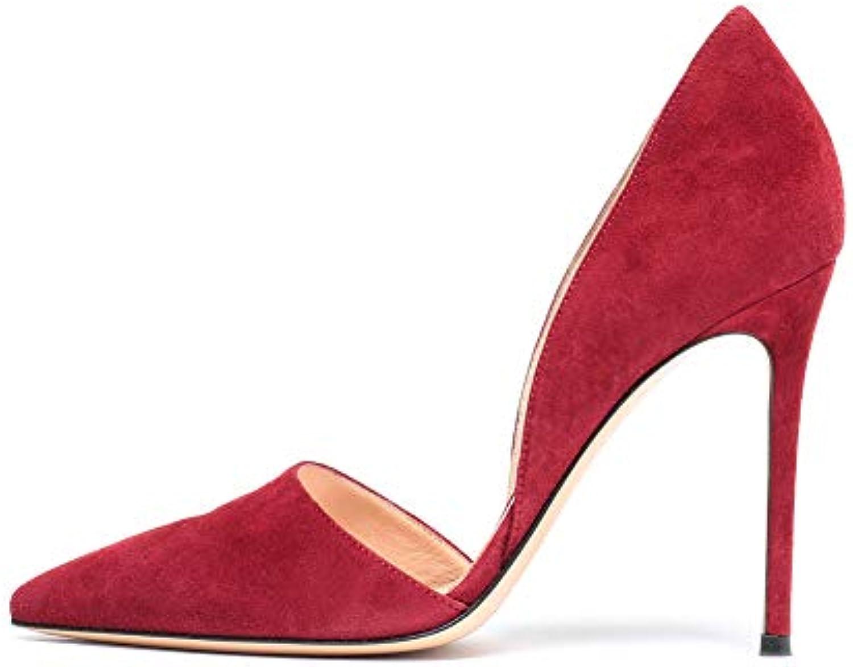 Scamosciato High Heels Scarpe da Donna,MWOOOK-445 Moda Festa Partito Dress Discoteca Scarpe Taglia 34-45,rosso,41 | Il Più Economico  | Sig/Sig Ra Scarpa