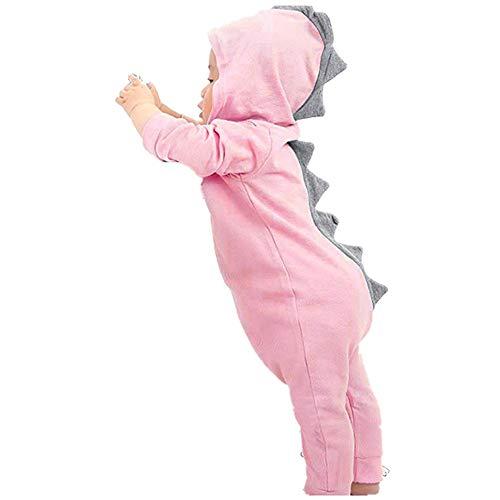 be2023c579 Elecenty Neonato bambino dinosauro ragazza Hooded pigiama tuta Abiti Tuta  da neonato con cappuccio a romper