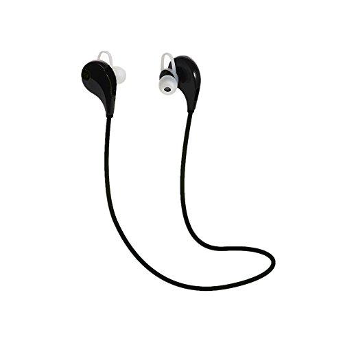 SMARTEX   Auriculares Bluetooth 4.1 Negro, Auriculares Wireless con microfono para Deporte y Compatible con iPhone, iPad, LG G2, Samsung, Huawei etc.