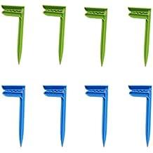 Beach Towel Clips Clip de Toalla de Playa Manta Picnic Fijar Clavijas (Verde + Azul