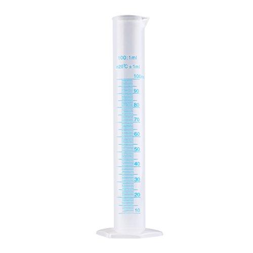 Messzylinder von PIXNOR, transparent, Kunststoff,100 ml