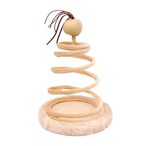 Spiralförmige Federschale für Katzen, Spielzeug zum Trainieren von Spielen, lustiges Katzenspielzeug