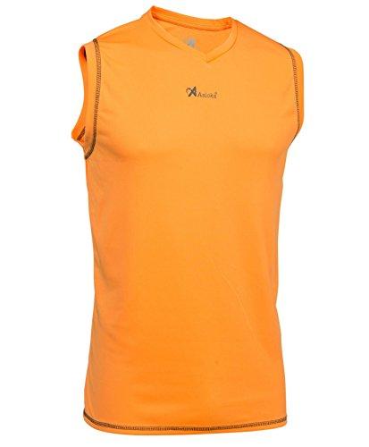 Asioka 184/17N Basketball T-Shirt ohne Ärmel, Unisex Kinder XS orange