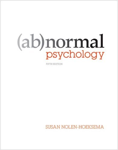 Abnormal Psychology by Susan Nolen-Hoeksema (2010-09-29)