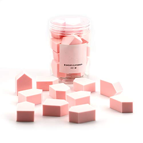 up Keile Kosmetik Keile Nail Art Schwämme Triangle Form Foundation Beauty Werkzeug(Rosa) ()