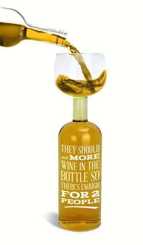 BigMouth Inc Weinglas-Flasche 'Sie sollten mehr Wein in die Flasche setzen So gibt es genug für 2...