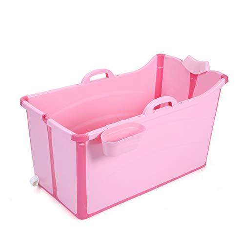 YONGJUN Vasca da Bagno Pieghevole, Isolamento Domestico Vasca da Bagno in Plastica Facile da Ospitare Vasca da Bagno I Bambini Possono Utilizzare Fino A 15 Anni Rosa/Blu (Colore : Rosa)