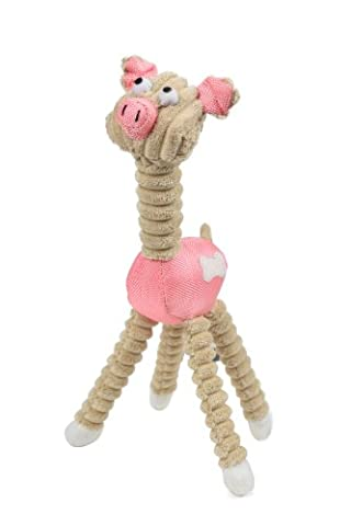 Jute And Rope Giraffe - Pig Pet Toy, One Size, Pink