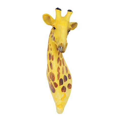 SUPVOX Jirafa Escultura Pared Cabeza Animal Busto