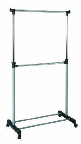 HAKU Möbel 44708 Rollgarderobe 90 x 43 x 120210 cm, alu  chrom  grau
