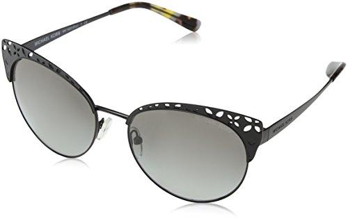 Michael Kors Damen Evy 117411 56 Sonnenbrille, Satin Black/Gradient