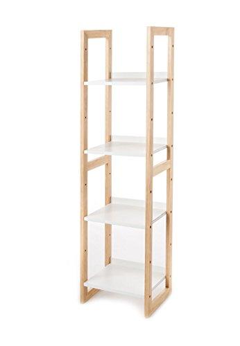 Wink design,Visby, Legno Massello Finitura Rovere, Bianco