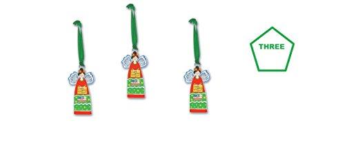 (3) Happy Birthday Jesus Christmas Ornaments ~ inspirierenden Religiöse Urlaub gifth ~ Familie Andenken ~ Lehrer ~ ENGEL Ornament ~ Faith (Birthday Lehrer Happy)