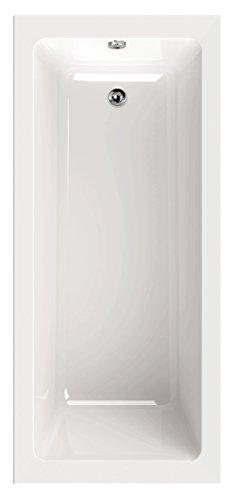 AquaSu I Acryl - Badewanne linHa I 180 x 80 cm I Weiß I Wanne I Badewanne I Bad I Badezimmer